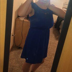 41 Hawthorne Lace Blue Dress